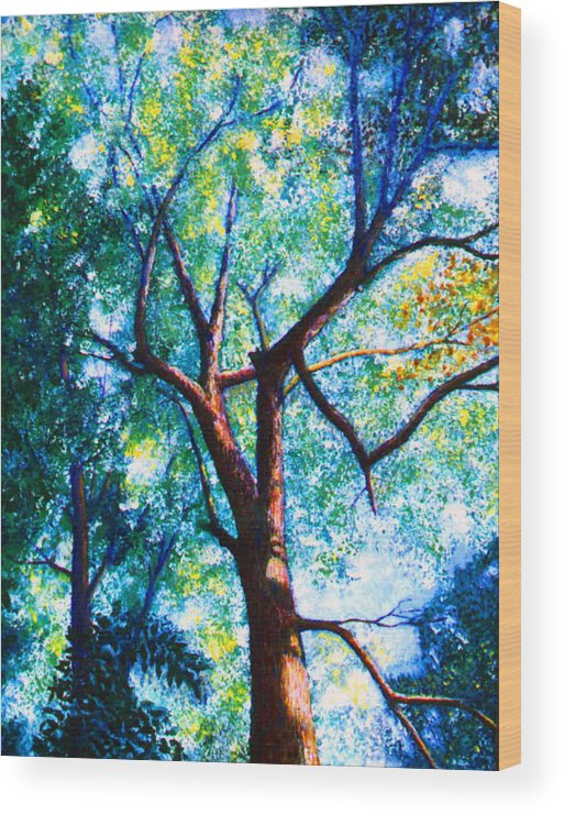 Landscape Wood Print featuring the painting The Tree by Stan Hamilton