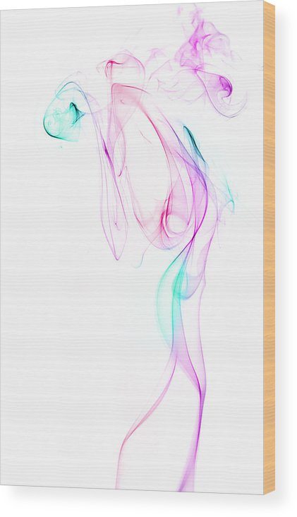 Smoke Wood Print featuring the photograph Dancing Smoke. by Les Lorek