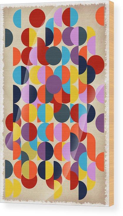 Contemporary Wood Print featuring the digital art Geo Geo by Mark Ashkenazi