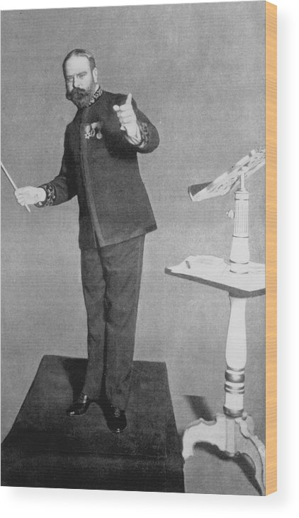 Sousa Wood Print featuring the photograph John Philip Sousa (1854 - 1932) by Mary Evans Picture Library