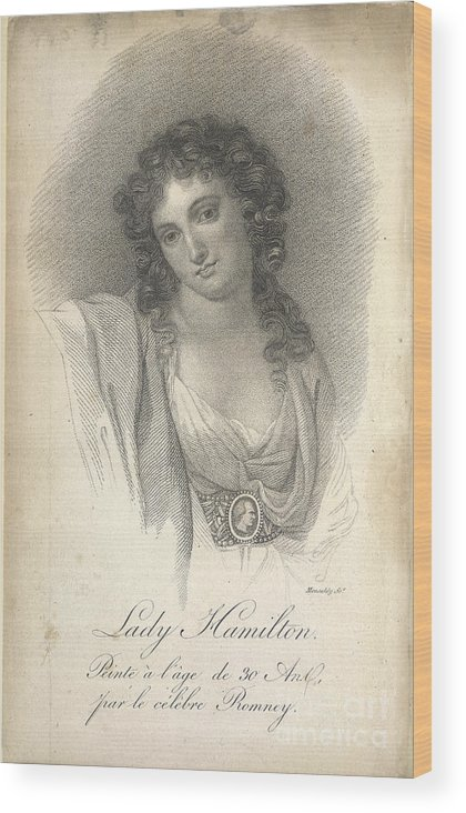 English Wood Print featuring the photograph Lady Emma Hamilton by British Library