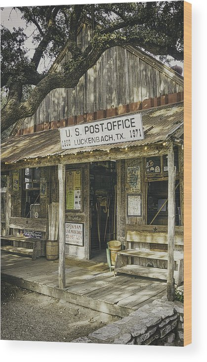 Luckenbach Wood Print featuring the photograph Luckenbach by Scott Norris