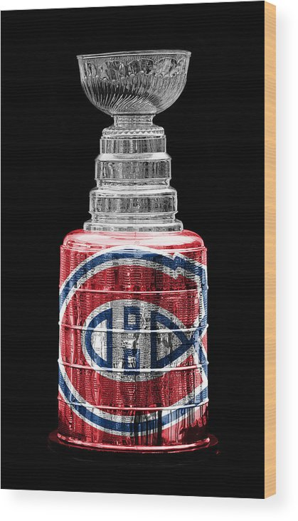 Hockey Wood Print featuring the photograph Stanley Cup 7 by Andrew Fare