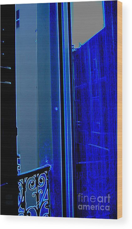 Blue Wood Print featuring the photograph Blue Window In Paris by Leela Arnet