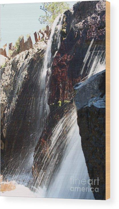 Waterfall Wood Print featuring the photograph Glenn Alpine Falls by Juan Romagosa