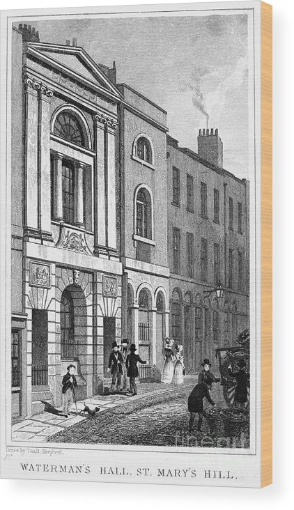 1830 Wood Print featuring the photograph London: Watermans Hall by Granger