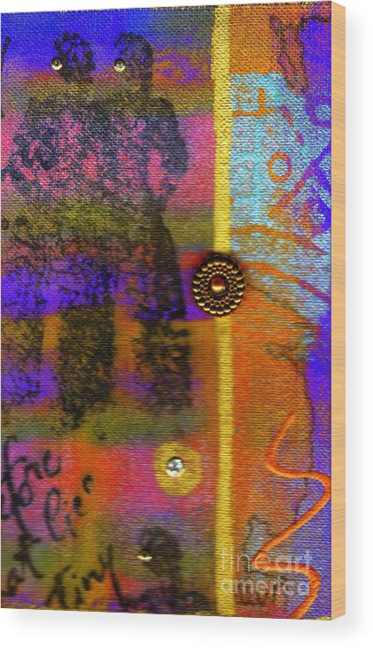 Elation Wood Print featuring the mixed media Two Friends by Angela L Walker