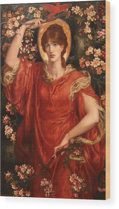 Dante Gabriel Rossetti Wood Print featuring the painting A Vision Of Fiammetta by Dante Gabriel Rossetti