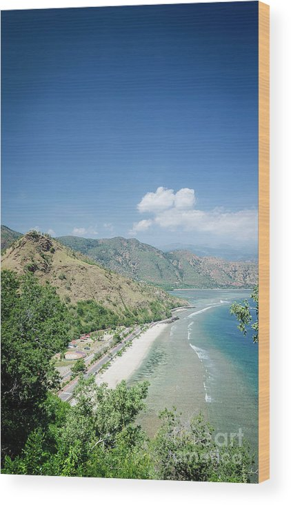 Area Wood Print featuring the photograph Coast And Beach View Near Dili In East Timor Leste by Jacek Malipan