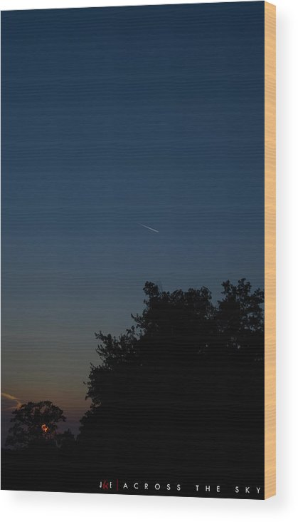 Sky Wood Print featuring the photograph Across The Sky by Jonathan Ellis Keys