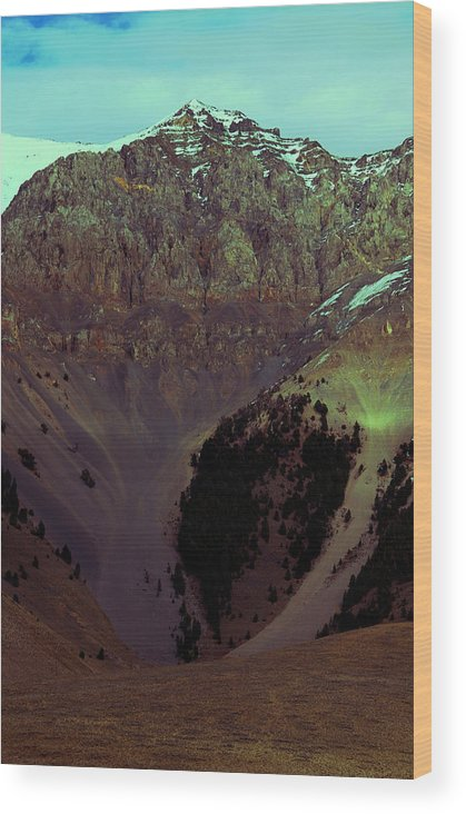 Rock Wood Print featuring the photograph Between A Rock And A Hard Place by Irma BACKELANT GALLERIES