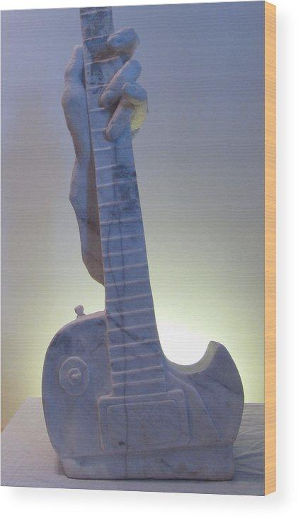 Sculpture Wood Print featuring the sculpture Broken Dreams by Paul Shier
