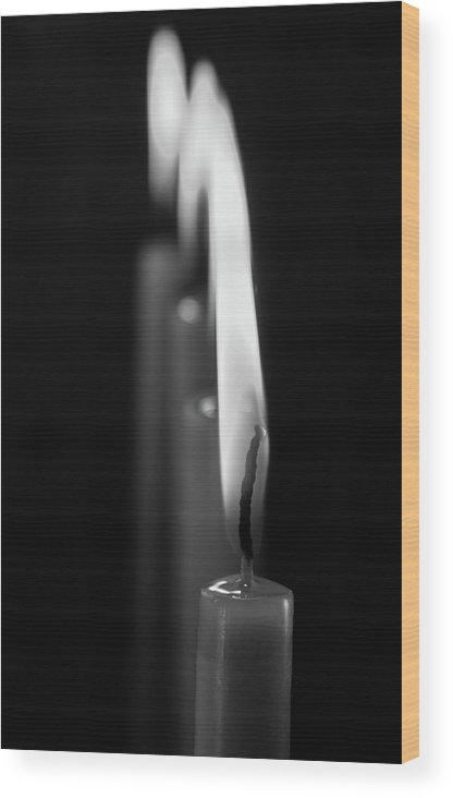Candle Wood Print featuring the photograph Candle by Marwa Elsayed