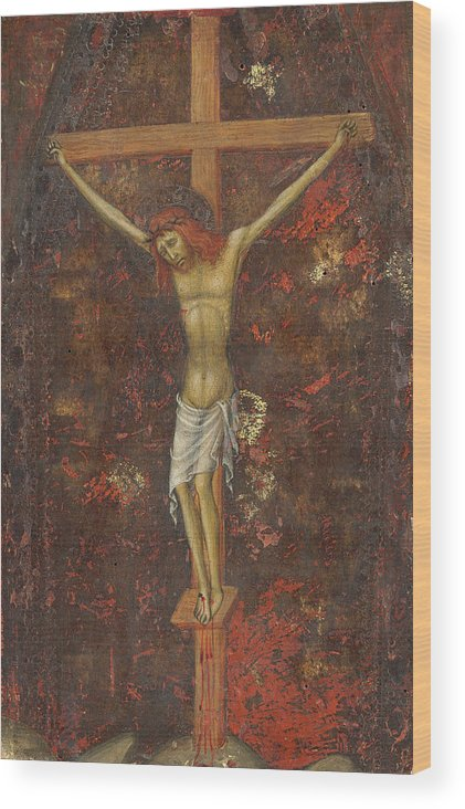 Andrea Di Bartolo Wood Print featuring the painting Christ On The Cross by Andrea di Bartolo
