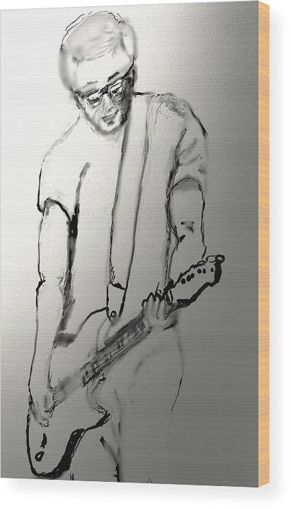Musician Wood Print featuring the drawing Cy Sulak by Robert Rearick