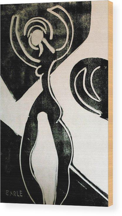 Dance Wood Print featuring the painting Dance II by Dan Earle