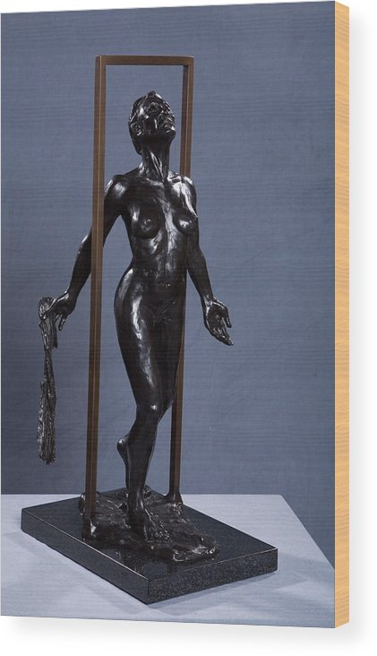 Female Wood Print featuring the sculpture Epiphany by Dan Earle