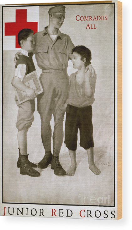 1919 Wood Print featuring the photograph Junior Red Cross Poster by Granger