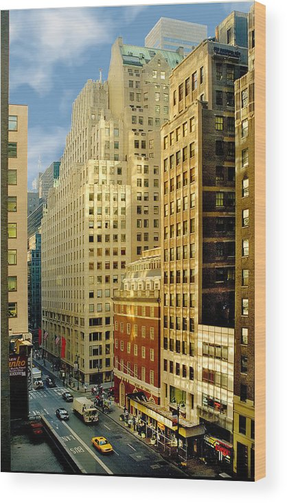Architecture Wood Print featuring the photograph Madison Avenue by Pat Carosone