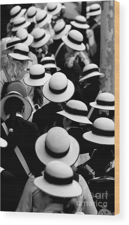 Hats Schoolgirls Wood Print featuring the photograph Sea Of Hats by Sheila Smart Fine Art Photography
