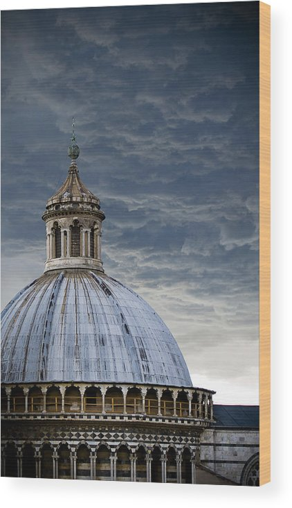 Siena Wood Print featuring the photograph Storm Over Siena by Jim DeLillo