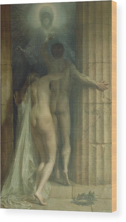 Til Death Us Do Part Wood Print featuring the painting Till Death Us Do Part by SCH Goetze