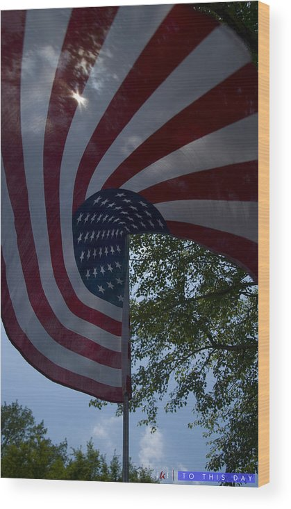 Flag Wood Print featuring the photograph To This Day by Jonathan Ellis Keys