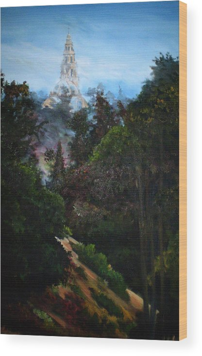 Balboa Park Wood Print featuring the painting Tower West Of 163 by Duke Windsor