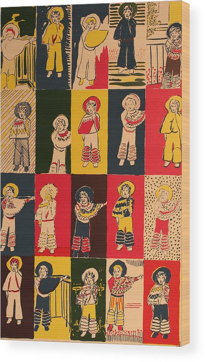 Wood Print featuring the painting Twenty Little Mexicans by Biagio Civale