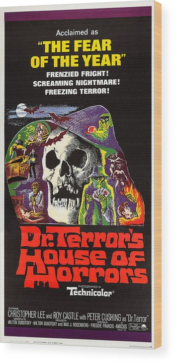 1960s Movies Wood Print featuring the photograph Dr. Terrors House Of Horrors, Poster by Everett