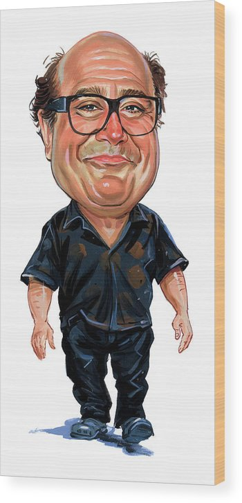 Danny Devito Wood Print featuring the painting Danny Devito by Art