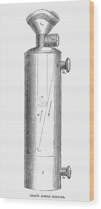 1847 Wood Print featuring the photograph Ether Inhaler, 1847 by Granger
