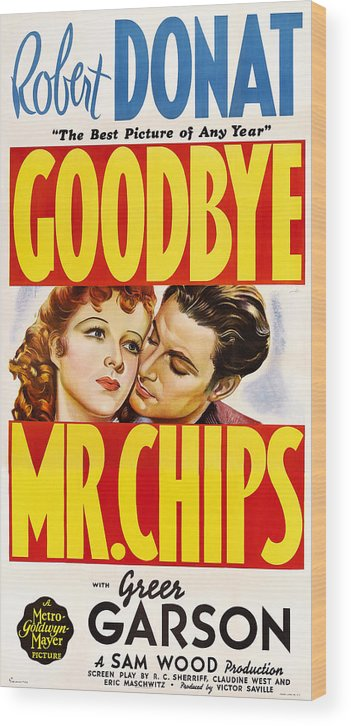 1930s Movies Wood Print featuring the photograph Goodbye, Mr. Chips, L-r Greer Garson by Everett