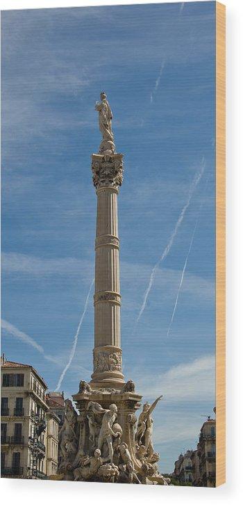 France Wood Print featuring the photograph Marseilles Monument by Oleg Koryagin