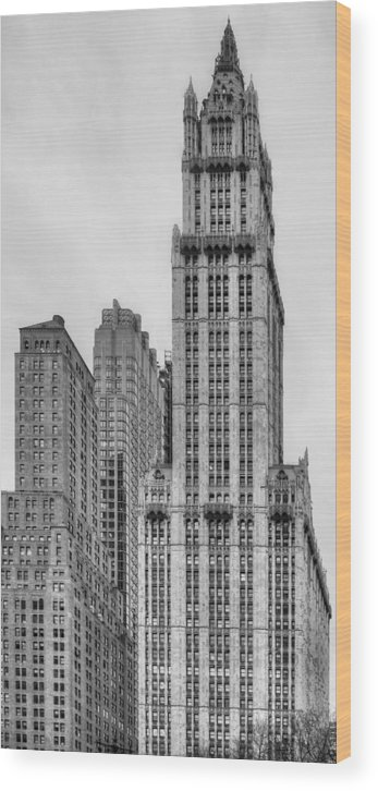 The Woolworth Wood Print featuring the photograph The Woolworth Downtown by JC Findley