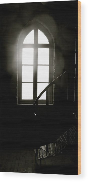 Architecture Wood Print featuring the photograph Lighted Glass by Sonja Anderson