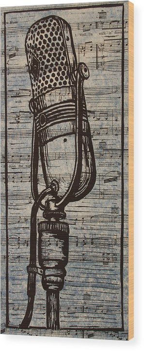 Rca Wood Print featuring the drawing Rca 77 On Music by William Cauthern