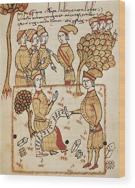 Group Wood Print featuring the photograph Boysset, Bertrand 1355-1415. Surveyor by Everett