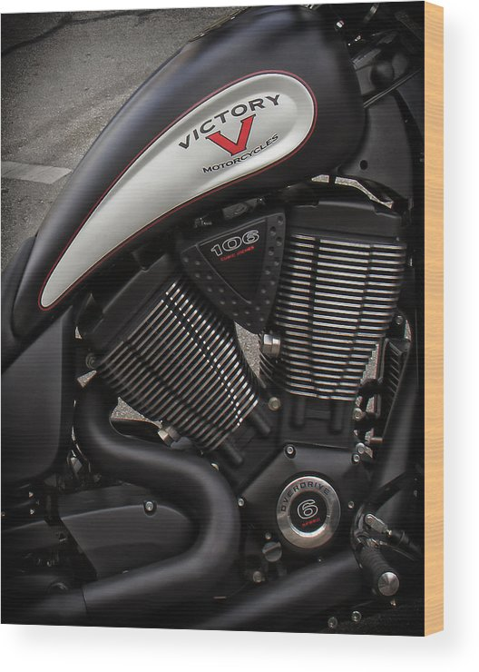 V-twin Engines Wood Print featuring the photograph 106ci V-twin by Debby Richards