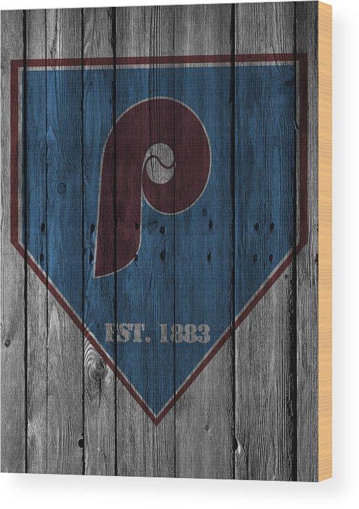 Phillies Wood Print featuring the photograph Philadelphia Phillies by Joe Hamilton