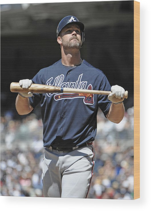 California Wood Print featuring the photograph Atlanta Braves V San Diego Padres by Denis Poroy