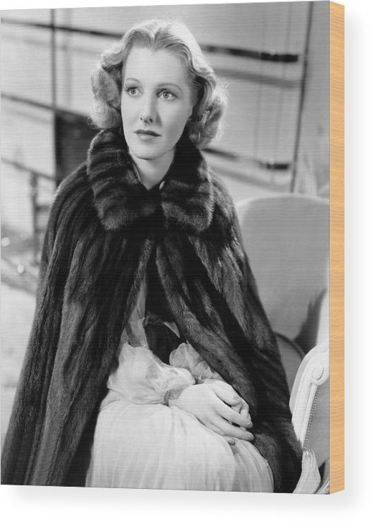 1930s Movies Wood Print featuring the photograph History Is Made At Night, Jean Arthur by Everett