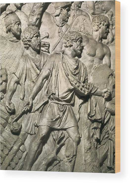 Europe Wood Print featuring the photograph Apollodorus Of Damascus 60-129. Column by Everett
