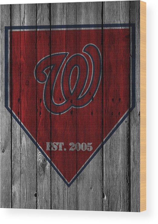 Nationals Wood Print featuring the photograph Washington Nationals by Joe Hamilton