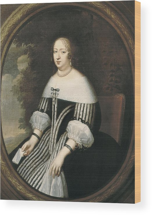 Vertical Wood Print featuring the photograph Beaubrun, Charles 1604 - 1692. Anne by Everett