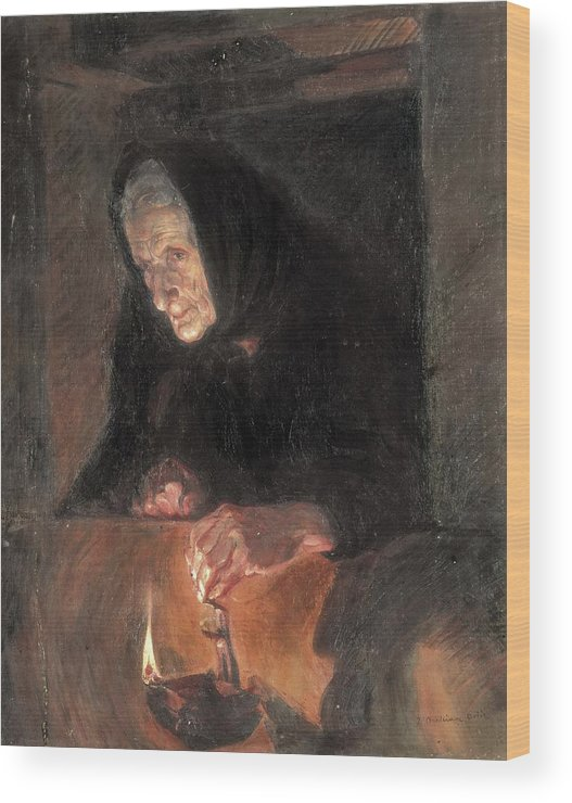 Vertical Wood Print featuring the photograph Benlliure Ortiz, Jos� 1884-1916. The by Everett