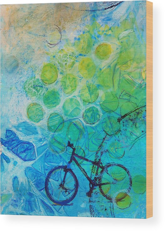 Bike Wood Print featuring the painting Bike by Arlissa Vaughn