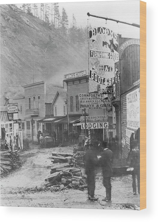 1877 Wood Print featuring the photograph Deadwood, South Dakota by Granger