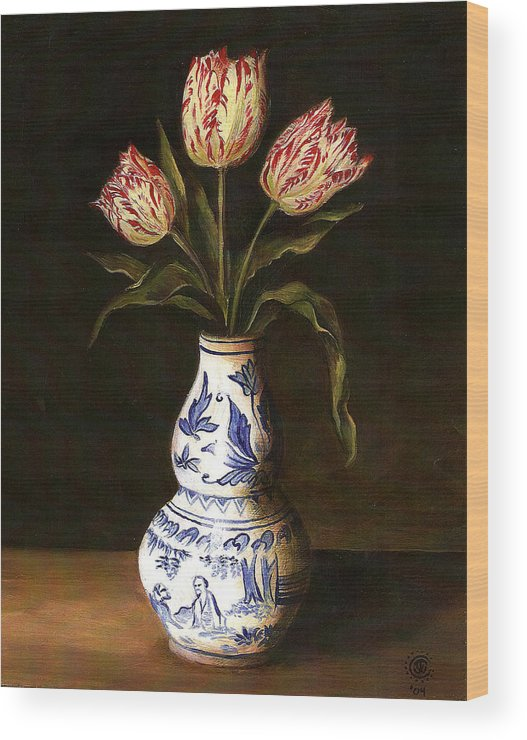 Dutch Still Life Wood Print featuring the painting Dutch Still Life by Teresa Carter