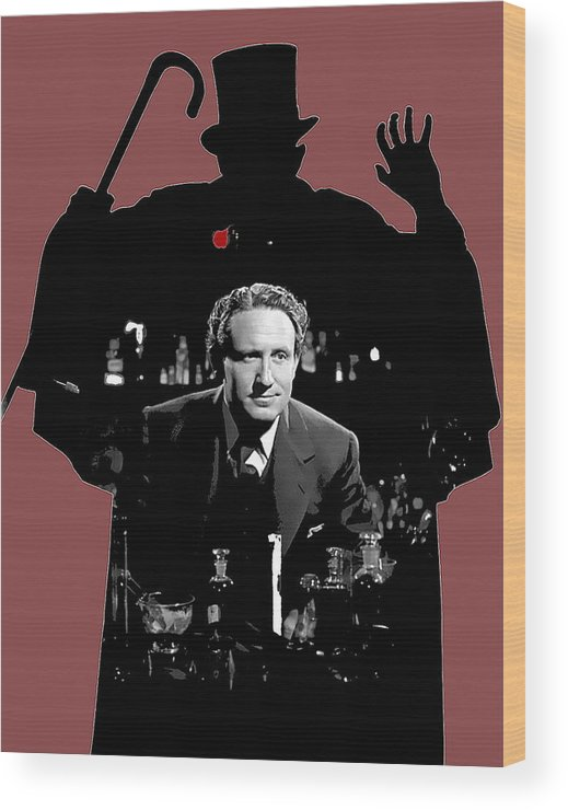 Film Homage Spencer Tracy Dr. Jekyll And Mr. Hyde 1941 Wood Print featuring the photograph Film Homage Spencer Tracy Dr. Jekyll And Mr. Hyde 1941-2014 by David Lee Guss